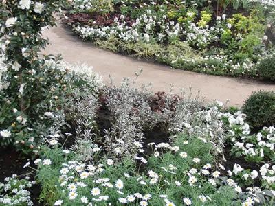バラクライングリッシュバーデンの白い庭