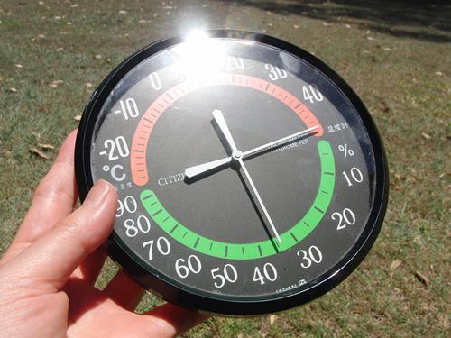 日向の温度計